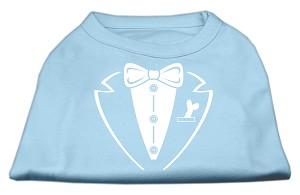 Tuxedo Screen Print Shirt Baby Blue XXL (18)